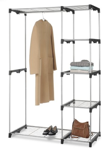 Whitmor Double Rod Closet System Organizer Wardrobe
