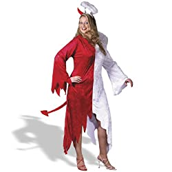 1/2 Devil, 1/2 Angel Plus Adult Costume - Plus - Adult Costumes