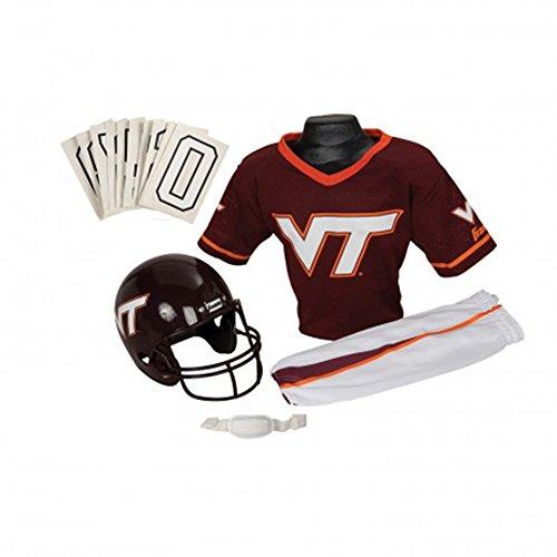 [Franklin Sports Va Tech Deluxe Uniform Set - Small] (Male Football Player Costume)