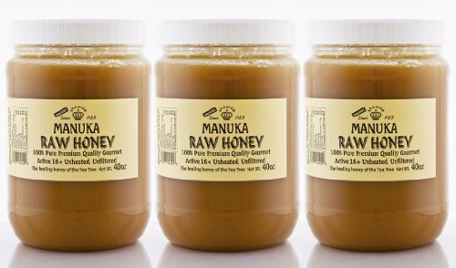 MANUKA RAW HONEY 3 JARS (40 OZ/JAR) ACTIVE 16+