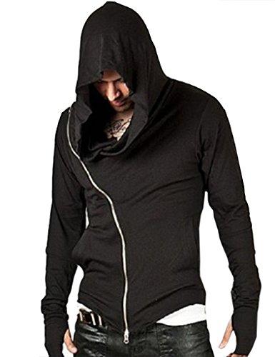Ajetex Men Assassins Creed Slim Fit Outwear Hoodie Pullover Size XXL Black