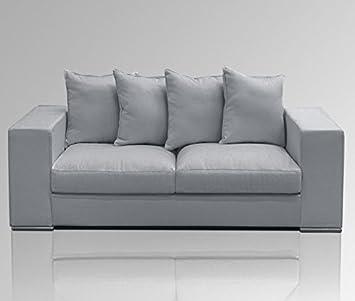 Diseñador sofá 2-plazas/Couch 200 x 106 xSH45cm de colour gris