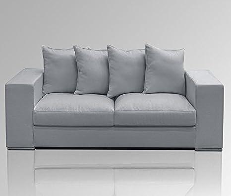 Designer divano 2-posti divano/200 x 106 xSH45cm grigio