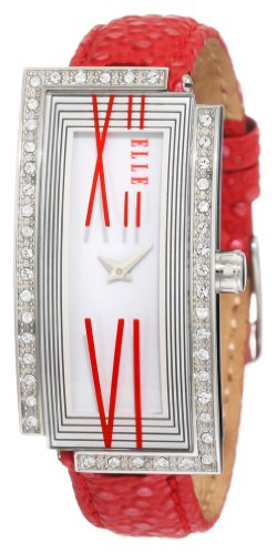 ELLETIME Women's EL20113S03C Red Alligator Leather Watch