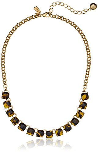 """Kate Spade New York """"Squared Away"""" Tortoise Necklace"""