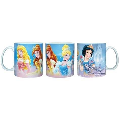 """14 Ounce Disney Princesses """"Dreams Come True"""" Castle Design Mug"""