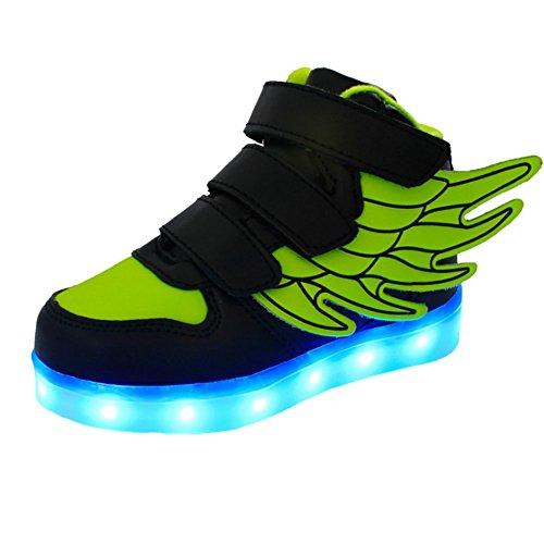 Hightech-Unisex-Zapatillas-LED-carga-USB-Zapatos-con-ruedas-led-deportivas-con-ala-2016-Nuevo-Moda-para-nios-nias