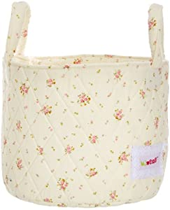 Minene - Cesta, tamaño pequeño, diseño de flores, color rosa de Minene