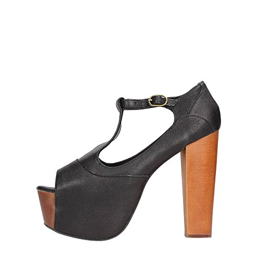 Jeffrey Campbell Foxy Leather, Scarpe col tacco, Donna, Nero (Black), 36