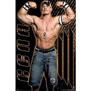 John Cena WWE Flexing Muscles Sports Poster Print 24 x 36 approx