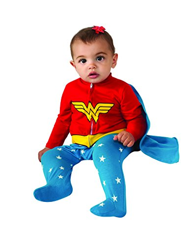 Rubie'S Costume Baby Girl'S Dc Comics Superhero Style Baby Wonder Woman Costume, Multi, 0-6 Months front-473586