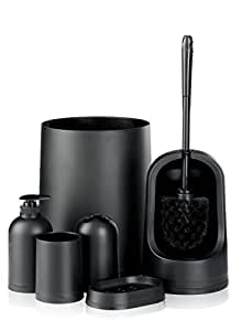 black monochrome bin toilet brush 7 matching home