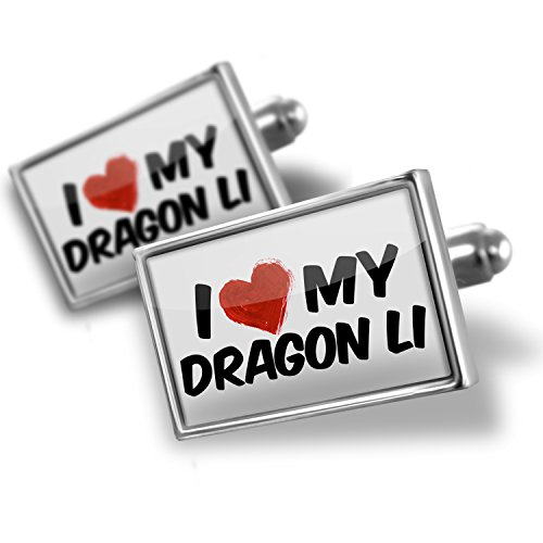 Sterling Silver Cufflinks I Love my Dragon Li Cat from China – Neonblond