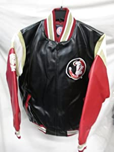G-III Florida State Seminoles Mens Medium Full Zip Faux Leather Jacket by G-III Sports