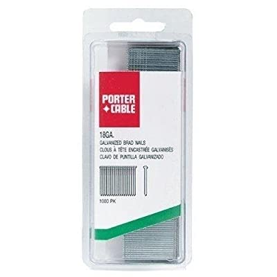 PORTER-CABLE PBN18125-1 1-1/4-Inch 18 Gauge Brad Nails 1000-Pack New