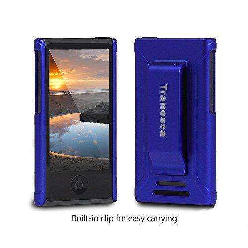 iPod Nano 7 case,Tranesca iPod Nano 7th & 8th generation rubber cover shell case with belt clip - Sentimental Blue (Ipod Nano Clip 7th Generation compare prices)