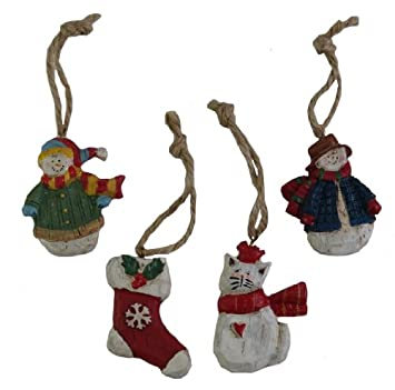 #!Cheap Susan Winget WINTER WONDERLAND Rustic Ornaments - 4 Piece Set