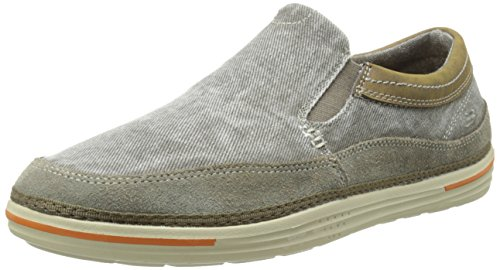 Skechers USA Men's Landen Steller Slip-On Loafer, Gray, 9.5 M US