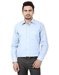 Reborn Designer Blue Cotton Shirt for Men -Size-42