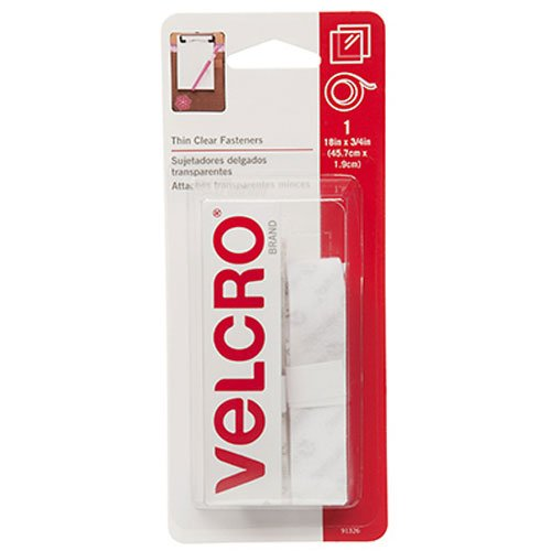 "Fantastic Deal! VELCRO Brand - Sticky Back - 18"" x 3/4"" Tape - Clear"