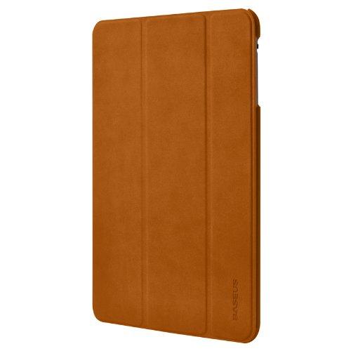 BASEUS Apple iPad mini Grace Leather Case Simplism Series 【 アップル Softbank ソフトバンク au アイパッド ミニ 対応 グレース レザー スマートフォン タブレット タブ ノート カバー ケース シンプリズム シリーズ 】 Brown ブラウン 茶 LTAPMINI-08