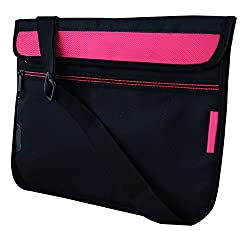 Saco Soft Durable Pouch for Micromax Canvas Laptab LT666 10.1-inch Touchscreen Laptop(Pink)