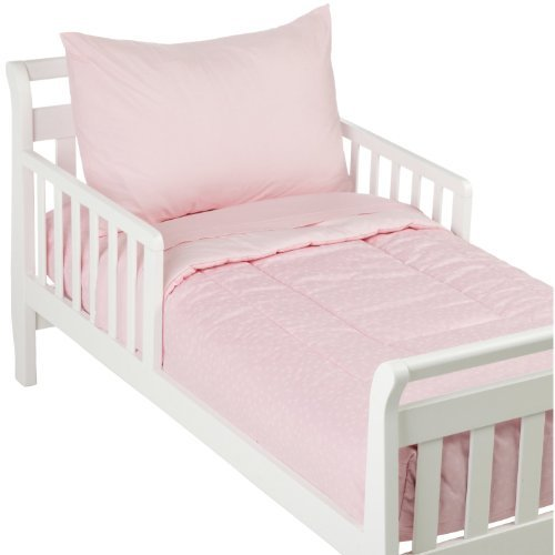 American Baby Company 100% Cotton Percale 4-Piece Toddler Bed Set, Pink Color: Pink Size: Toddler Newborn, Kid, Child, Childern, Infant, Baby front-540570