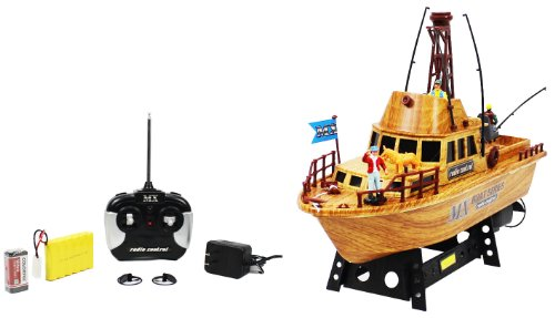Championship Faux Wood Sport Fisherman Electric RTR RC Boat Full Function Good Quality Remote Control Boat Perfect for Lakes, Ponds, Rivers, and Pools