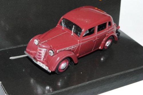 Moskvich 400 Limousine Rot Braun 1/43 Nash Avtoprom Modell Auto
