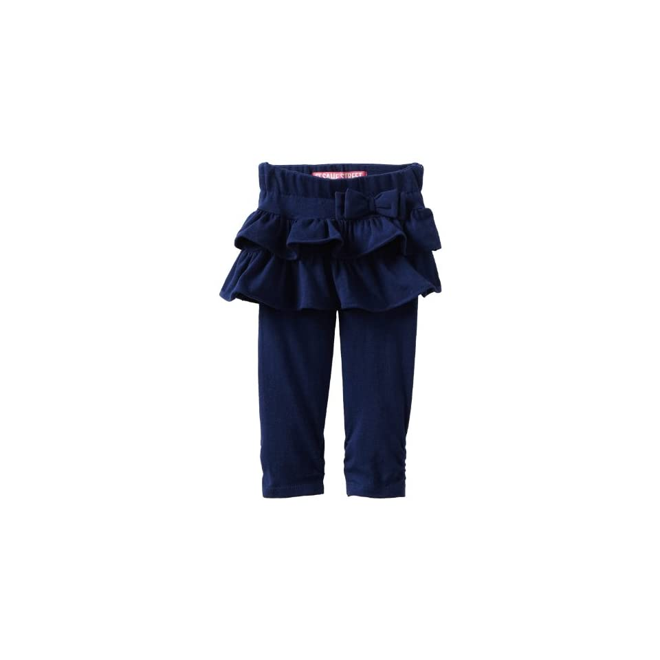 Watch Me Grow by Sesame Street Baby Girls Knit Ruffle Skegging, Blue Dark, 18 Months