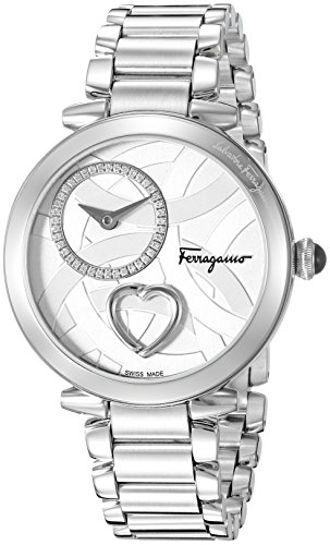 Salvatore-Ferragamo-Womens-Beating-Heart-Swiss-Quartz-Stainless-Steel-Casual-Watch-ColorSilver-Toned-Model-FE2070016