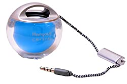Crystal Carry on speaker iphone, Samsung, Redmi, One Plus, Moto, HTC, Nokia, Tablets, Audio Players, Computers and Laptops-HOS-333-BLUE-MM
