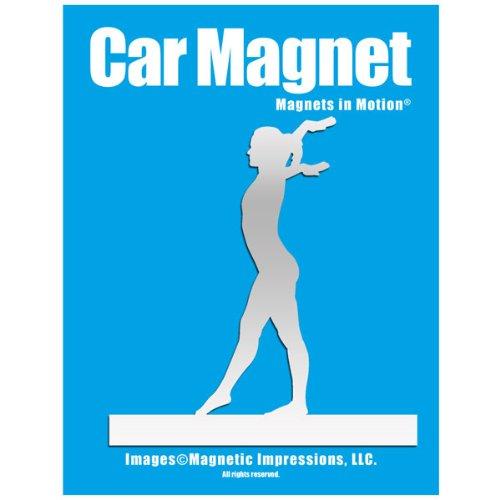 Gymnast Female Car Magnet Chrome