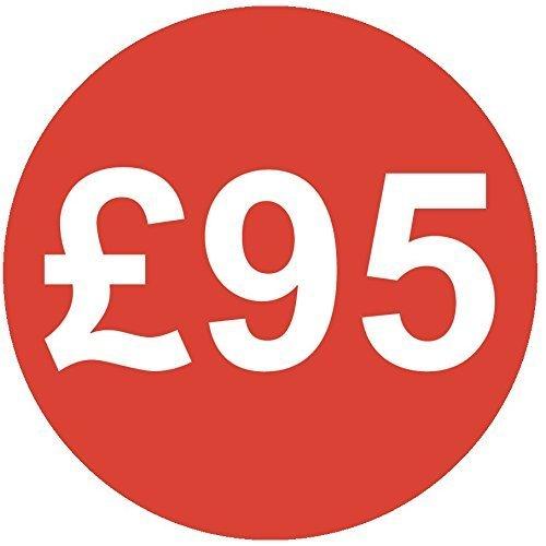 Audioprint Lot. 1000Lot de stickers Prix £9530mm rouge