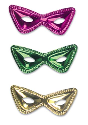 Mardi Gras Cat Eye Masks : package of 12 - 1