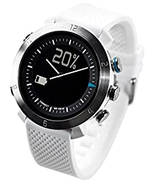 buy Cogito Classic Smart Bluetooth Connected Watch For Smartphones - Retail Packaging - White Alpine