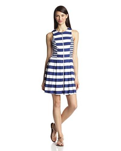 Ella Moss Women's Courtney Jersey Striped Fit And Flare Sleeveless Dress