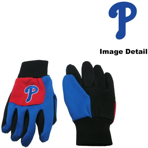 Philadelphia Phillies Color Block Red Grip Work Glove w/ Blue Fingers at Amazon.com
