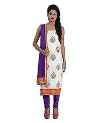 Mumtaz Sons Women's Cotton Unstitched Dress Material (MS111418D,Purple)
