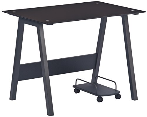schreibtisch glasplatte schwarz com forafrica. Black Bedroom Furniture Sets. Home Design Ideas