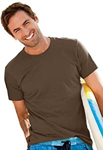 Hanes ComfortBlend EcoSmart Crewneck Men's T-Shirt 5170, 2X, Yellow