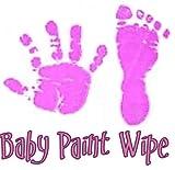 New Baby Handprint Foot Prints Paint Wipe - Violet