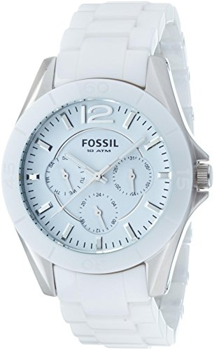 Fossil Ladies White Ceramic Analogue Watch - CE1002