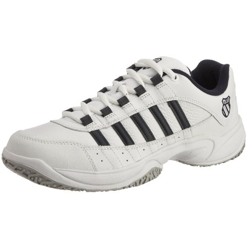 K-Swiss Men's Outshine Omni Fabric White/Navy Lace Up 01121-109-M 10.5 UK