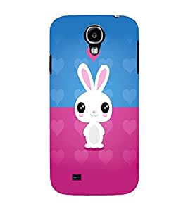 PrintVisa Cute Cartoon Rabbit Cute 3D Hard Polycarbonate Designer Back Case Cover for Samsung Galaxy S4 Mini