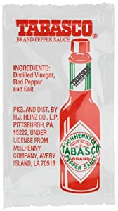 Tabasco Pepper Sauce 011-ounce Single Serve Packages Pack Of 200 from Tabasco