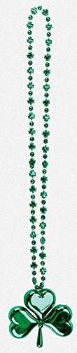 Large Shamrock Bead Necklace