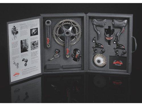 カンパニョーロ(CAMPAGNOLO) 80周年記念Sレコードコンポ9点セット(ボトルケージ付) 直付/12-27/170x34-50/ITA