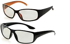 "Doppelpack 3D Brillen: 1 x ""SportsDesign"" und 1 x ""RealOrange"" - Zirkular polarisiert für passiv 3DTV - Kompatibel mit RealD, MasterImage2, LG Cinema, Philips Easy, Toshiba, JVC Xpol, Panasonic"