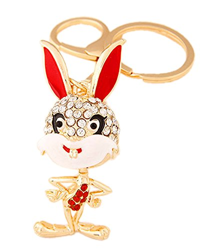 Young & Forever Republic Deal Parade Special Bling Bling Mr Bunny Bag Charm Key Ring & Key Chain By CrazeeMania...